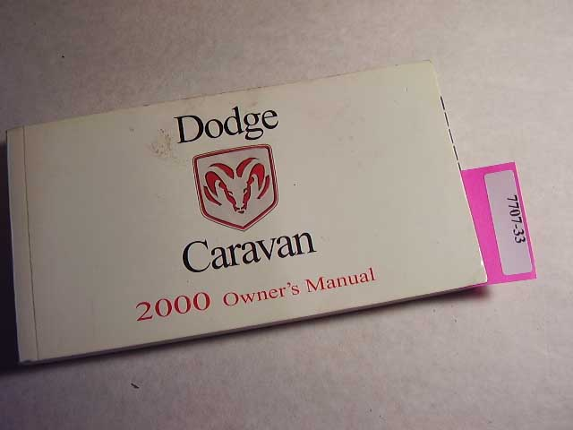 2000 Dodge Caravan Owners Manuals