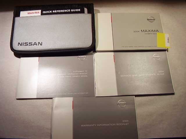 2004 Nissan Maxima Owners Manual