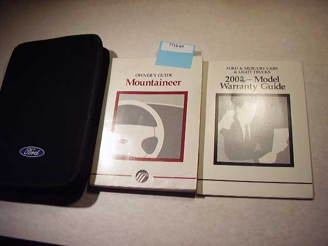 2002 Ford Mountaineer Owners Manuals