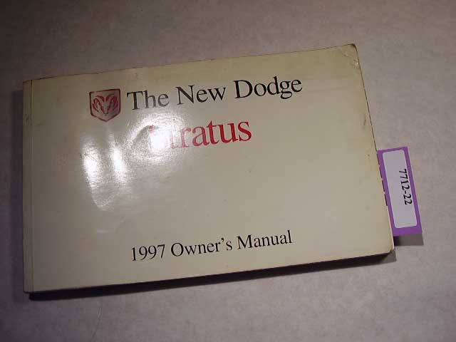 1997 Dodge Stratus Owners Manuals