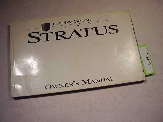 1995 Dodge Stratus Owners Manuals