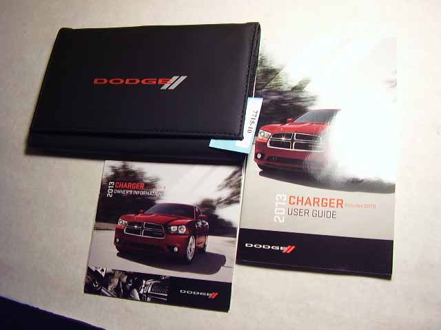 2013 Dodge Charget incl SRT8 Owners Manuals