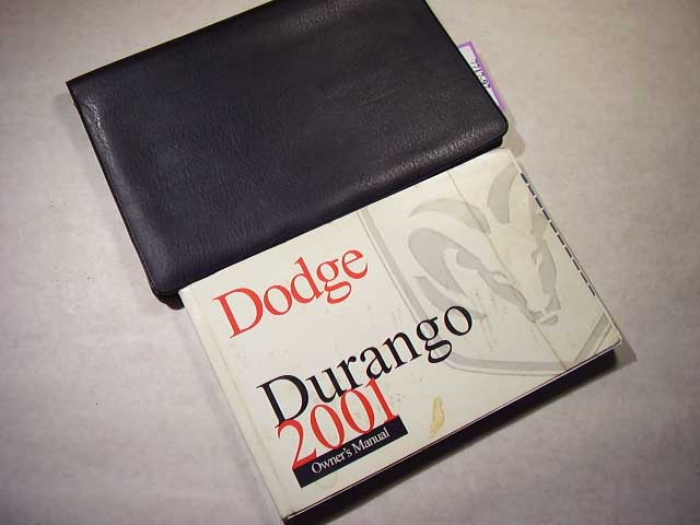 2001 Dodge Durango Owners Manual