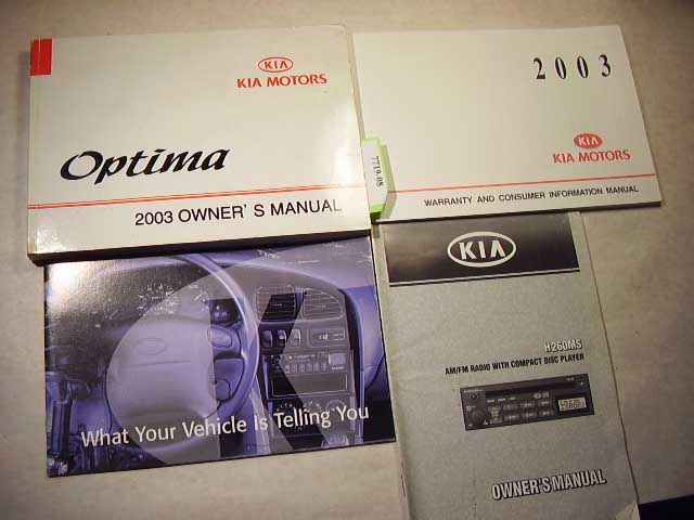 2003 Kia Optima Owners Manual