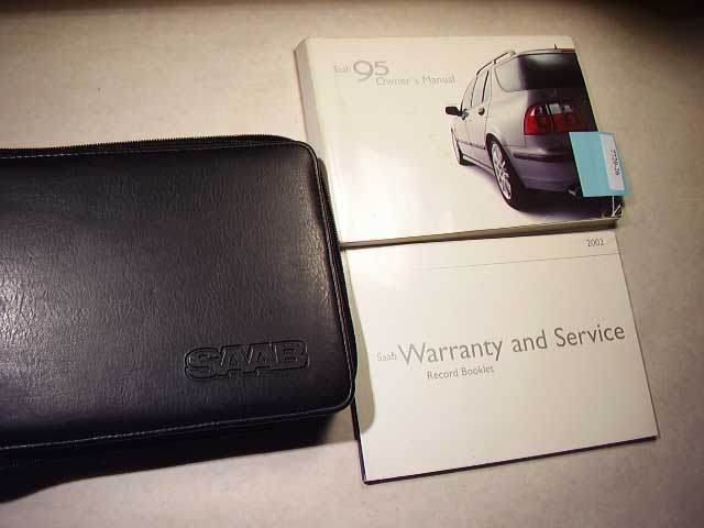 2002 Saab 9.5 9-5 Owners Manual