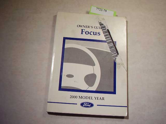 2000 Ford Focus Owners Manual