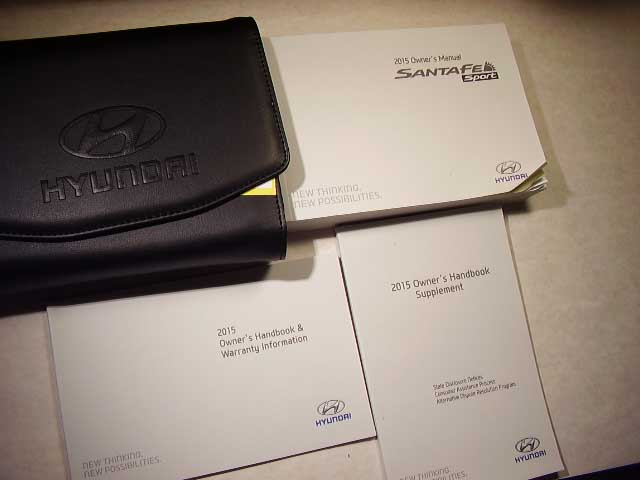 2015 Hyundai Santa Fe Sport Owners Manual
