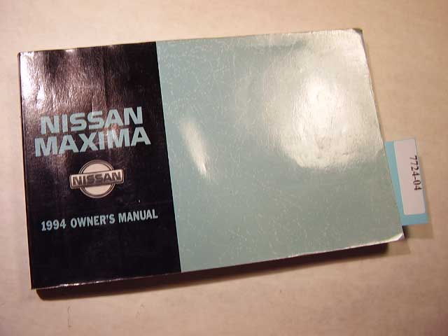 1994 Nissan Maxima Owners Manual