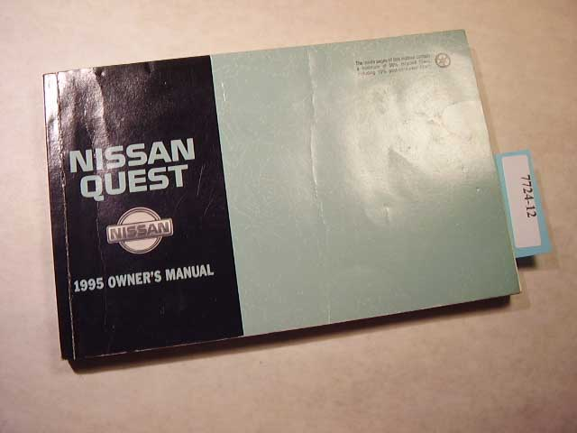 1995 Nissan Quest Owners Manual