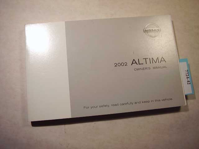 2002 Nissan Altima Owners Manual