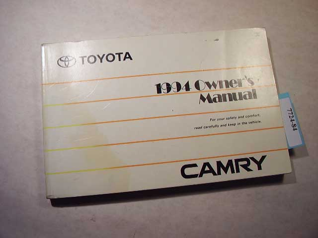 1994 Toyota Camry Owners Manual