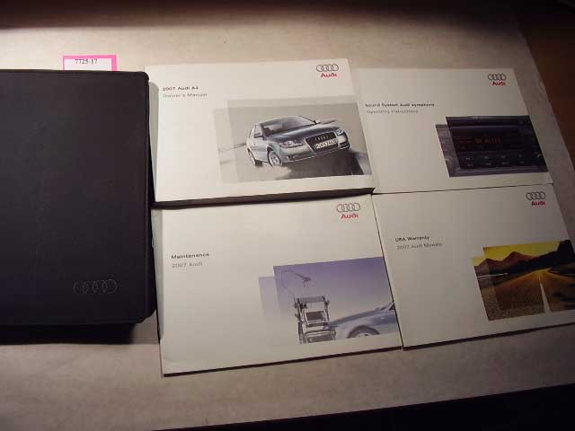 2007 Audi A7 Owners Manual