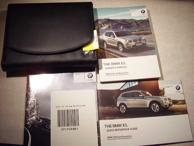 2012 BMW X3 with navigation manual Owners Manual