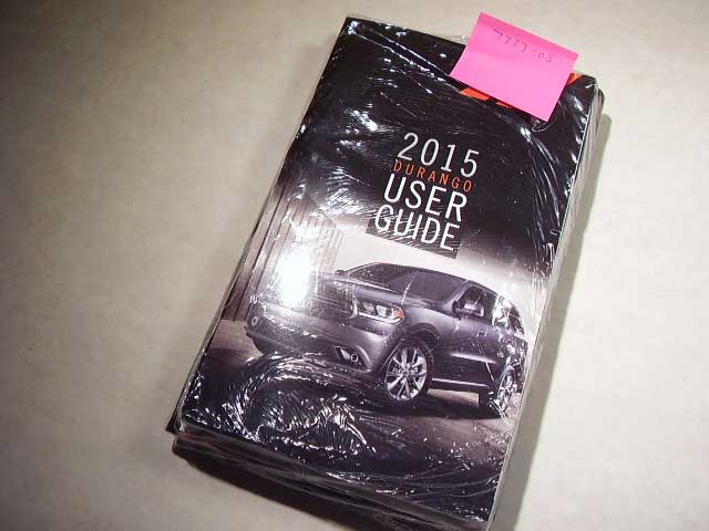 2015 Dodge Duarango Owners Manual