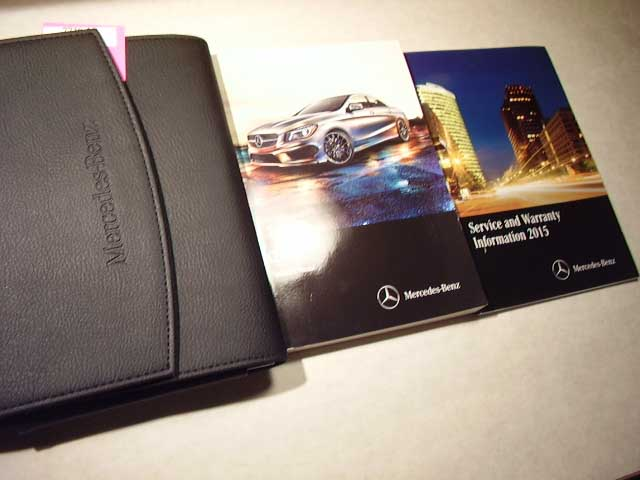 2015 Mercedes CLA Class Owners Manual