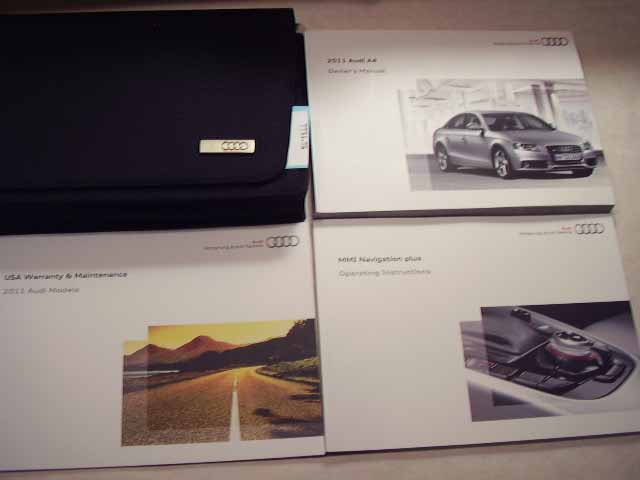 2011 Audi A4 with Navigation Guide Owners Manual