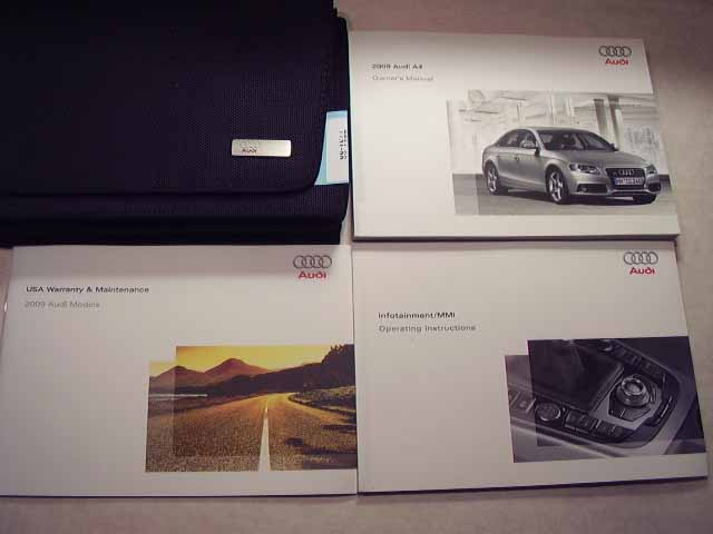 2009 Audi A4 with Infotainment Guide Owners Manual