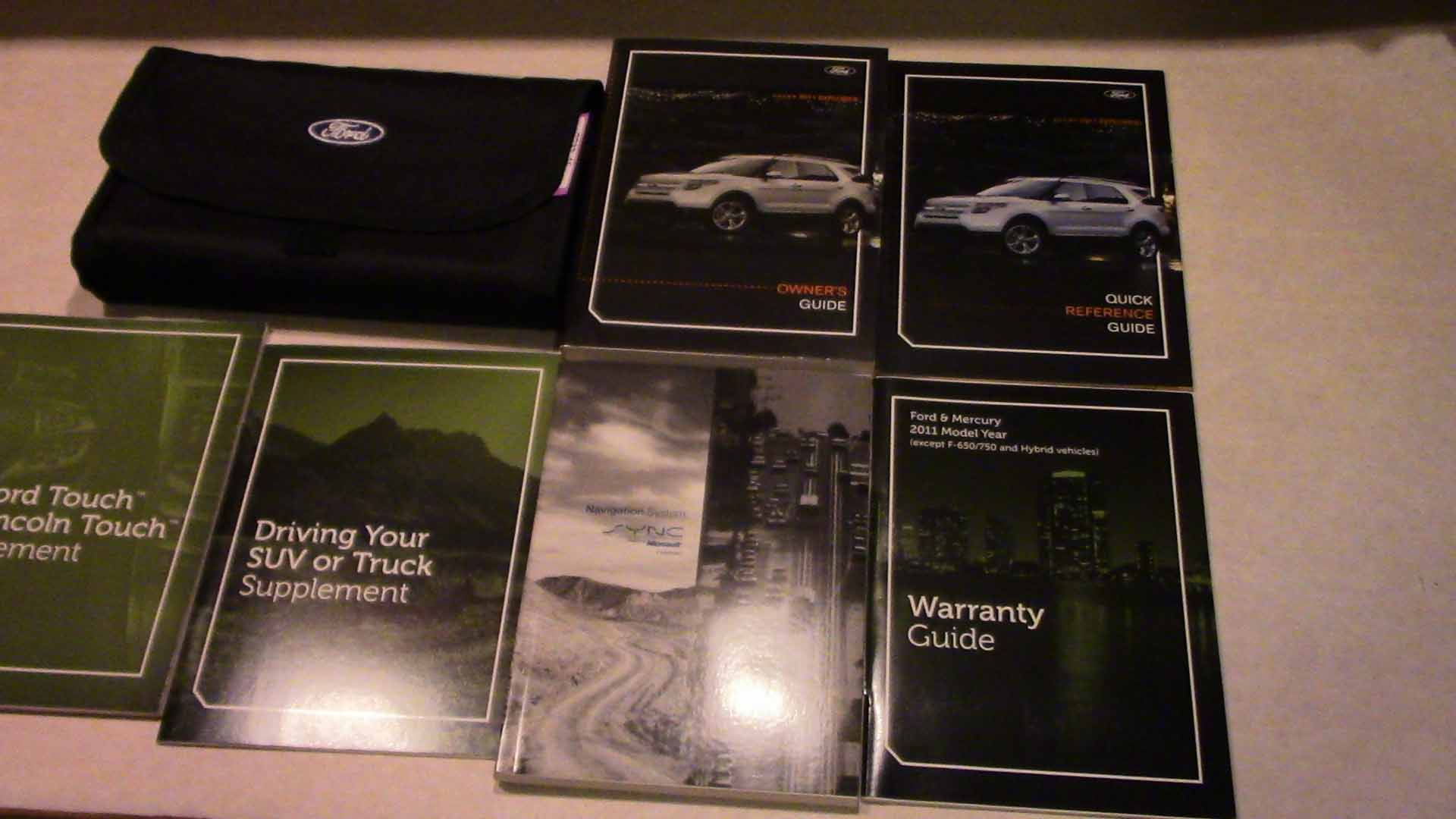 2011 Ford Explorer with Sync Navigation Guide Owners Manual