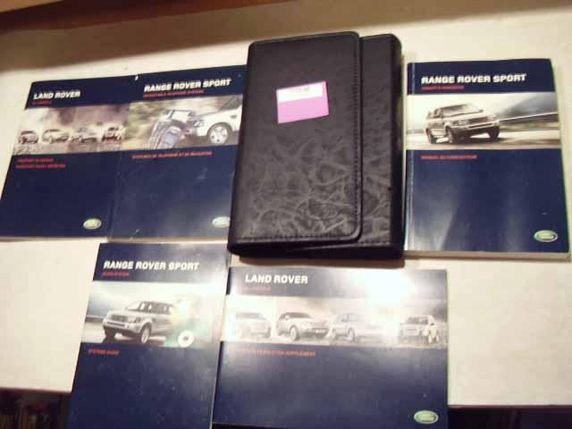 2006 Land Rover Range Rover Sport with Navigation Guide Owners M