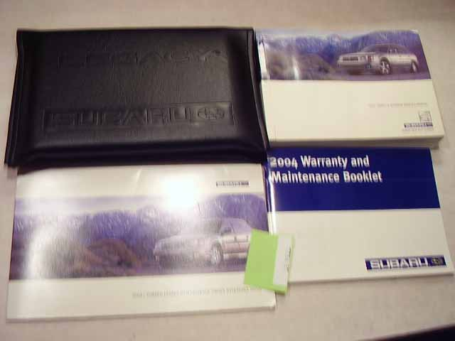 2004 Subaru Legacy and Outback Owners Manual