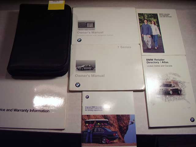 1998 BMW 7 Series Owners Manual