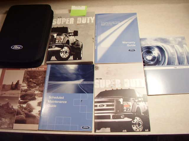 2008 Ford Superduty gas Owners Manual