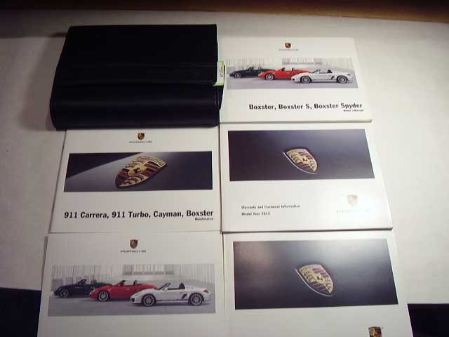 2012 Porsche Boxster Boxster S and Spyder Owners Manual