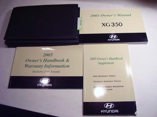 2005 Hyundai XG 350 Owners Manual
