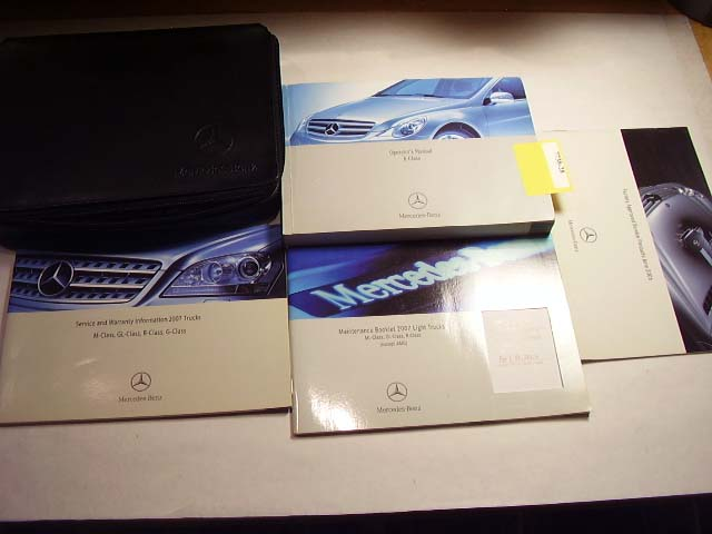 2007 Mercedes R-Class Owners Manual