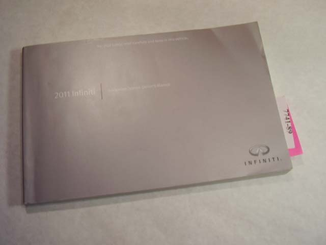 2011 Infiniti Navigation guide only Owners Manual