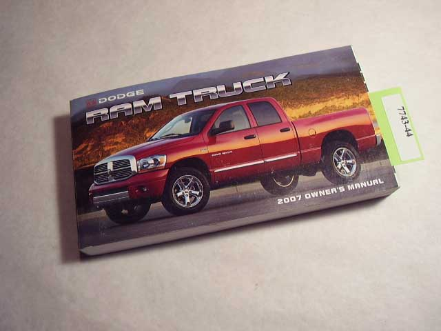2007 Dodge Ram Truck Owners Manual