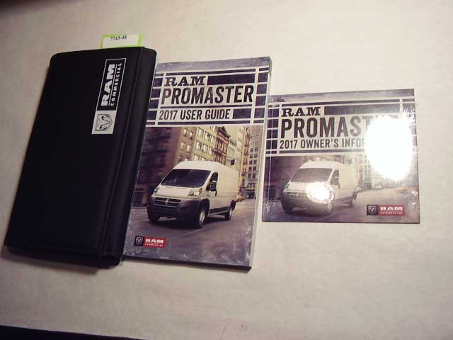 2017 Dodge Ram ProMaster Owners Manual