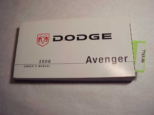 2008 Dodge Avenger Owners Manual