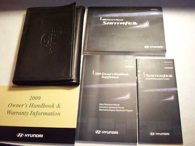 2009 Hyundai Santa Fe Owners Manual