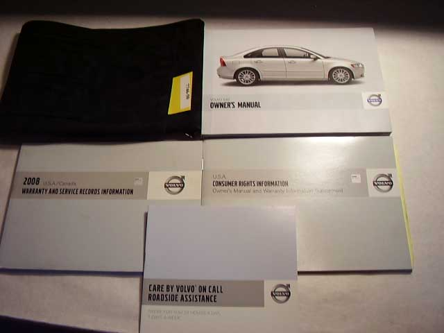 2008 Volvo S49 Owners Manual