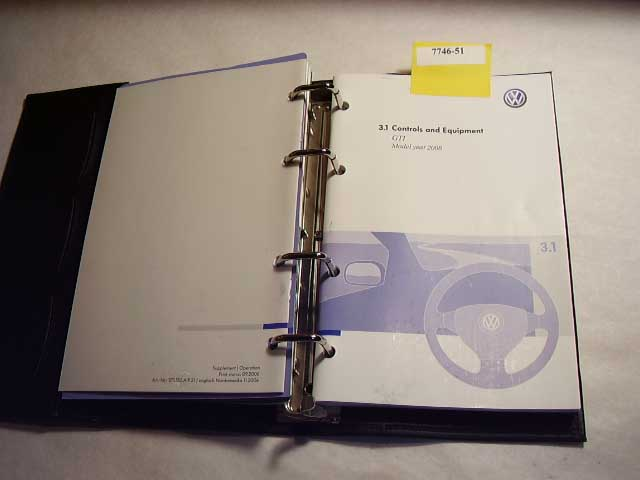 2008 Volkswagen GTI Owners Manual