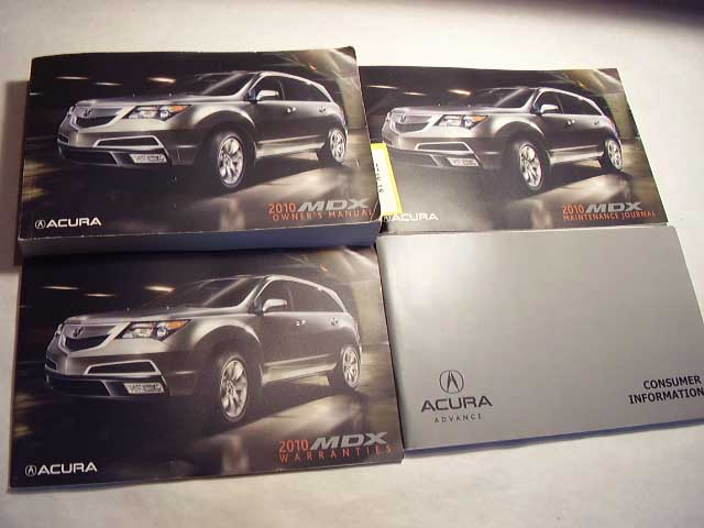 2010 Acura MDX Owners Manual