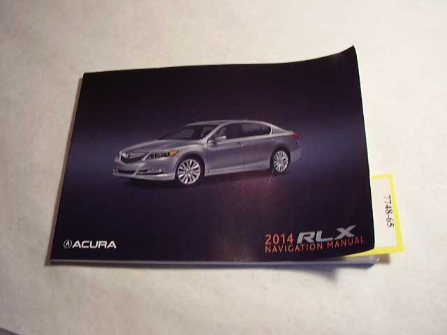 2014 Acura RLX navigation supplement only Owners Manual