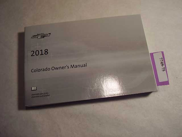 2018 Chevrolet Colorado Owners Manual