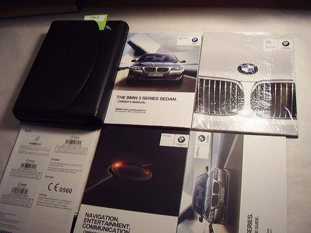 2013 BMW 5 Series Sedan with Navigation Supplement Owners Manual