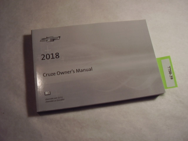 2018 Chevrolet Cruze Owners Manual