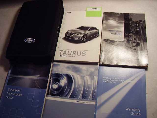 2010 Ford Taurus with Navigation Supplement Owners Manual