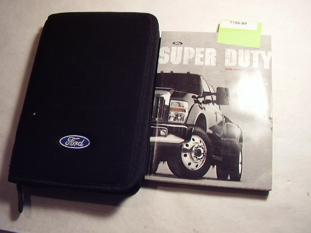 2008 Ford SuperDuty Truck gasoline Owners Manual