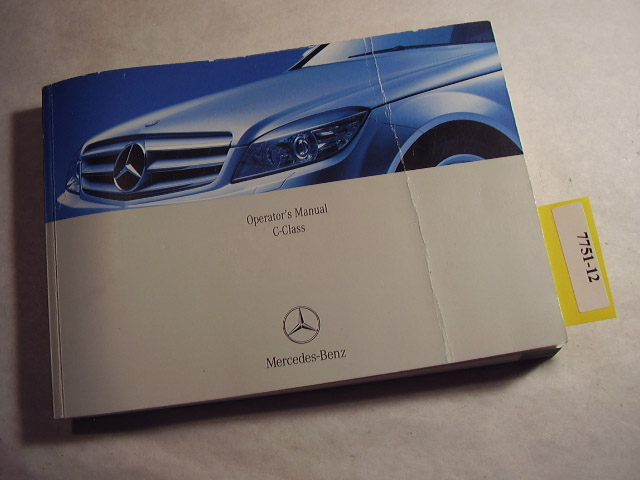 2008 Mercedes Benz C Class C-Class Owners Manual