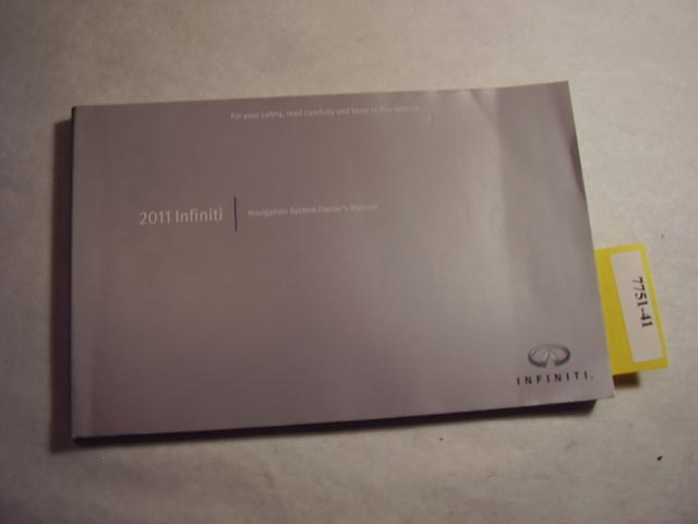 2011 Infiniti Navigation Only guide