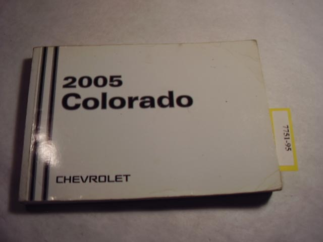 2005 Chevrolet Colorado Owners Manual