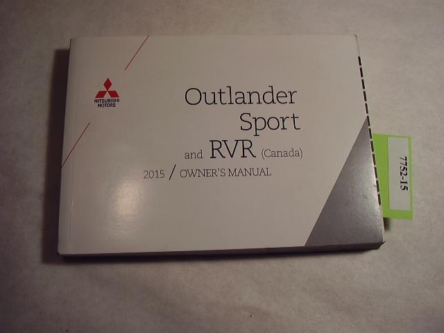 2015 Mitsubishi Outlander Sport Owners Manual