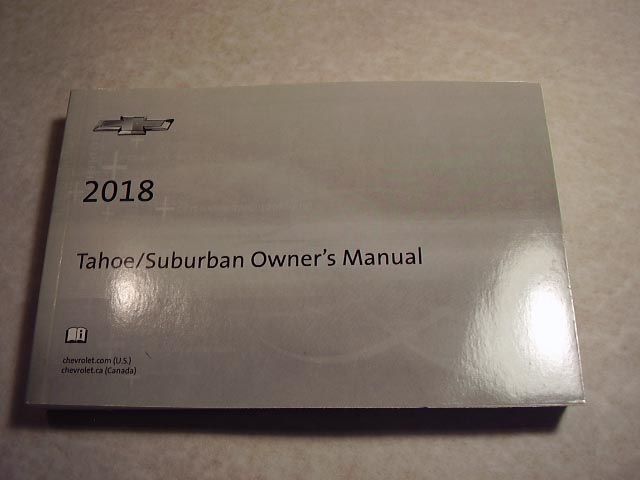 2018 Chevrolet Tahoe, Suburban Owners Manual