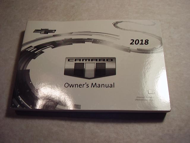 2018 Chevrolet Camero Owners Manual