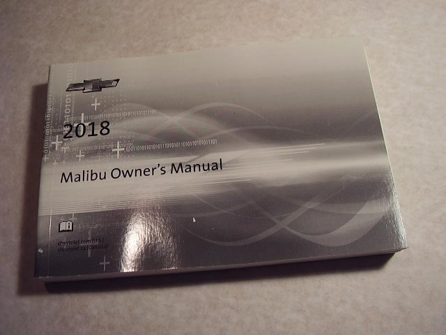 2018 Chevrolet Malibu Owners Manual